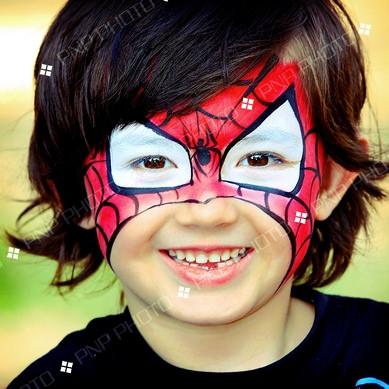 pintacaras fáciles para niños Spiderman