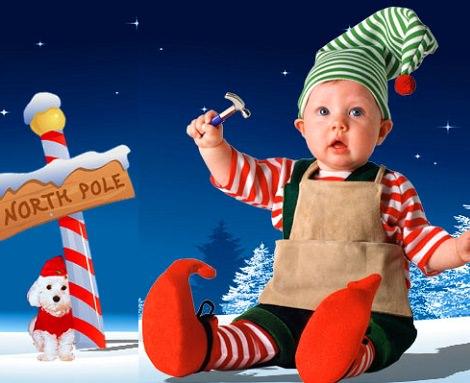 Disfraz de duende para bebé de Tom Arma