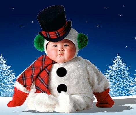 Disfraz de muñeco de nieve para bebé de Tom Arma