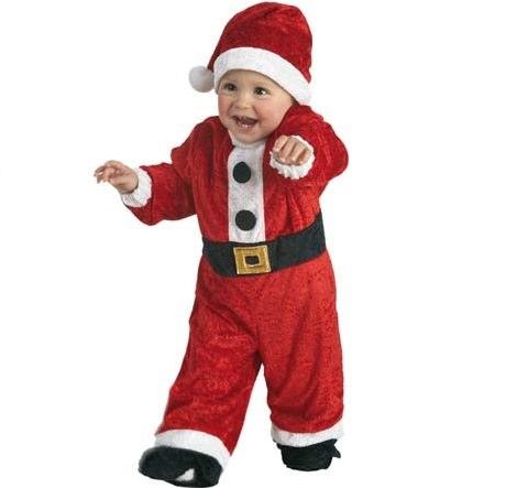 disfraz de papa noel barato de bebe para navidad