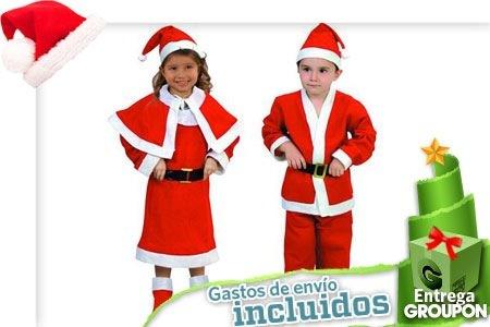 disfraz de papa noel barato para navidad niño