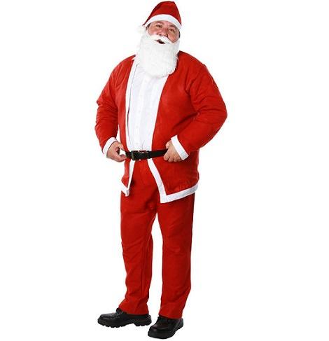 disfraz de papa noel barato para navidad