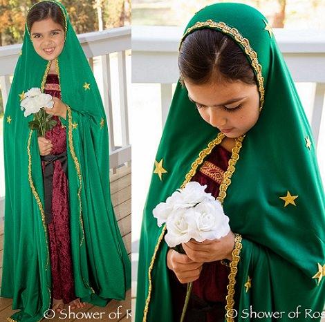 disfraz de virgen maría casero para navidad 2013 manto