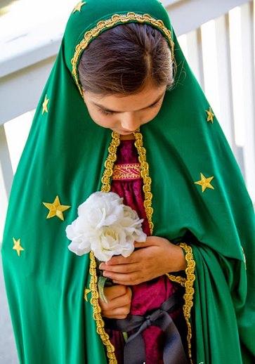 disfraz de virgen maría casero para navidad 2013